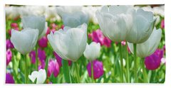 White Tulips 71116 Beach Towel