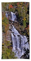 White Water Falls Beach Towel