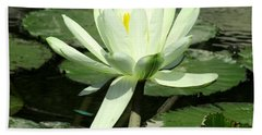 Beach Sheet featuring the photograph White Water Lily 1 by Randall Weidner