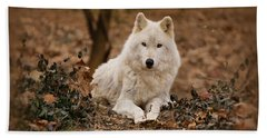 White Wolf Beach Towel