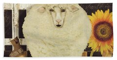 White Wool Farms Beach Towel