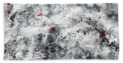 Beach Towel featuring the photograph White Yew by Helga Novelli