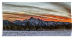 Whitehorse Sunset Panorama Beach Towel