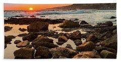 White's Point Sunset 2 Beach Towel
