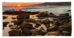 White's Point Sunset 2 Beach Towel