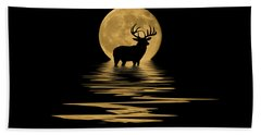 Whitetail Deer In The Moonlight Beach Towel