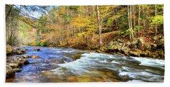 Whitetop River Fall Beach Towel