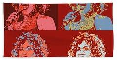 Whitney Houston Pop Art Panels Beach Towel