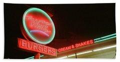 Whiz Burgers Neon, San Francisco Beach Towel