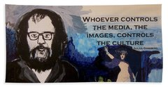 Who Controls The Media? Beach Towel