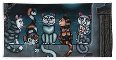 Whos Your Daddy Cat Painting Beach Towel