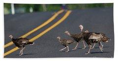 Why Did The Turkeys Cross The Road Beach Towel