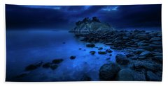 Beach Towel featuring the photograph Whytecliff Dusk by John Poon