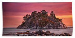 Beach Towel featuring the photograph Whytecliff Island Sunset by Jacqui Boonstra