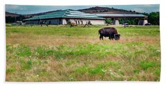 Beach Sheet featuring the photograph Wichita Mountain Wildlife Reserve Welcome Center II by Tamyra Ayles
