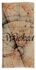 Beach Towel featuring the digital art Wicked by Cynthia Powell