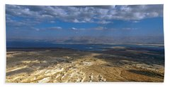 Wide View From Masada Beach Sheet