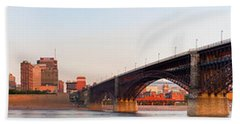 Wide View Of St Louis And Eads Bridge Beach Towel by Semmick Photo