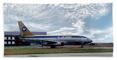 Wien Air Alaska Boeing 737, N4907 Beach Towel by Wernher Krutein