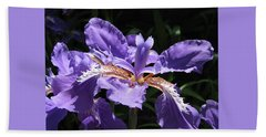 Wild About Iris Beach Towel
