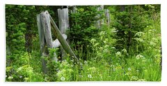 Beach Towel featuring the photograph Wild And Wildflowers by Marie Leslie