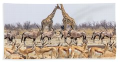Wild Animals Pyramid Beach Towel