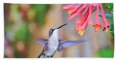 Wild Birds - Hummingbird Art Beach Towel