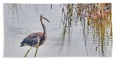 Wild Birds - Tricolored Heron Beach Towel