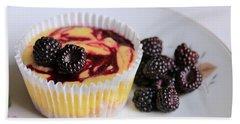Wild Black Raspberry Dessert Beach Towel by Lori Deiter