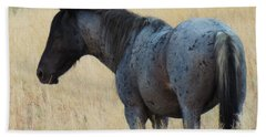 Wild Blue Mustang Beach Towel
