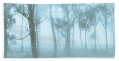 Wild Blue Woodland Beach Towel
