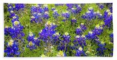 Wild Bluebonnets Blooming Beach Towel