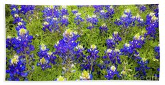 Beach Towel featuring the photograph Wild Bluebonnets Blooming by D Davila