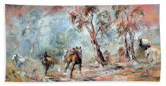 Wild Brumbies Beach Towel