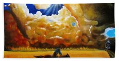 Beach Sheet featuring the painting Wild Fire  by Gene Gregory