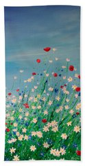 Wild Flower Meadow Beach Towel