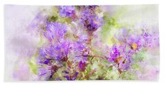 Wild Flowers In The Fall Watercolor Beach Towel