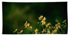 Evening Wild Flowers Beach Sheet by Kelly Wade
