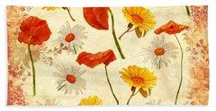 Wild Flowers Vintage Beach Towel