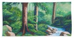Wild Forest River Beach Sheet