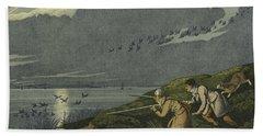 Wild Fowl Shooting Beach Sheet by Henry Thomas Alken