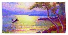Wild Goose, Moon Song Beach Towel