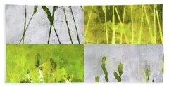 Wild Grass Collage 1 Beach Towel