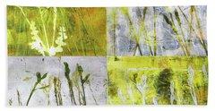 Wild Grass Collage 2 Beach Towel