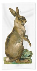 Beach Sheet featuring the digital art Wild Hare by ReInVintaged