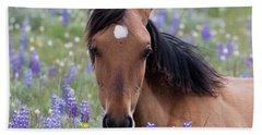 Wild Horse Among Lupines Beach Towel