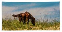 Wild Horse And Dragon Flies Beach Towel