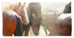 Wild Horses - Australian Brumbies 2 Beach Sheet by Lexa Harpell