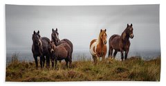 Wild Horses In Ireland Beach Towel