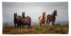 Wild Horses In Ireland Beach Sheet